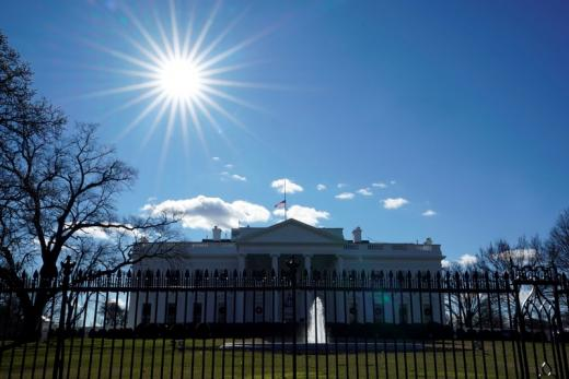 The White House is seen on the first day of a partial federal government shutdown in Washington.
