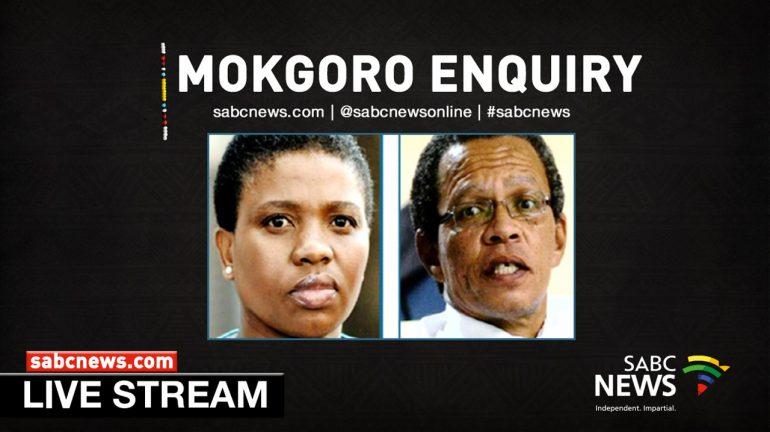 A livestream picture ofNomgcobo Jiba and Lawrence Mrwebi