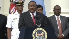 Kenya's President Uhuru Kenyatta.