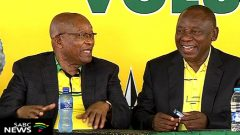 Former President Jacob Zuma together with current ANC President Cyril Ramaphosa.