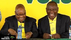 Former ANC President Jacob Zuma and current President Cyril Ramaphosa