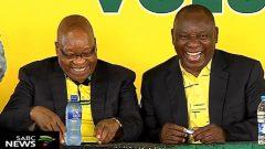Former ANC President Jacob Zuma and current President Cyril Ramaphosa