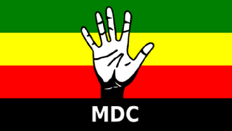 MDC flag with hand in the middle