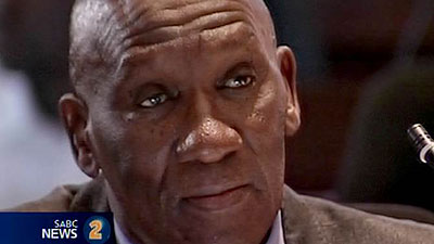 Police Minister Bheki Cele during an interview.