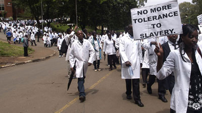 Doctors striking