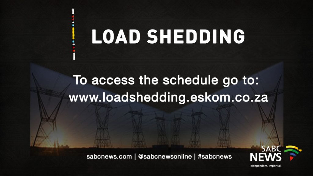 Load Shedding Schedule 2019 Picture: No Imminent Threat Of National Blackout: Eskom