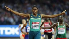 Caster Semenya celebrating