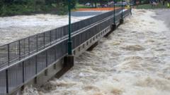 Flood in Australia.