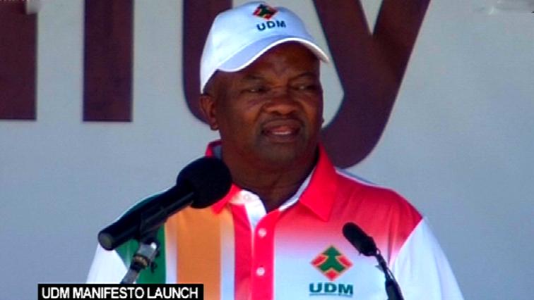 UDM President Bantu Holomisa.