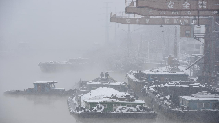 Blizzard in China.