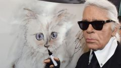 Karl Lagerfeld's and his cat Choupette