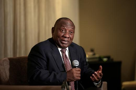 South African president - Cyril Ramaphosa.