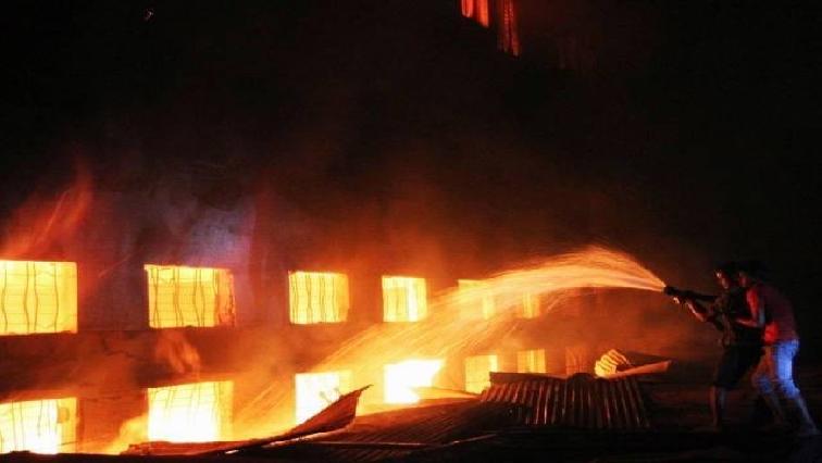Delhi fire, India.