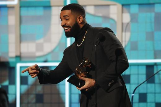 Drake won Best Rap Song at the 61st Grammy Awards in Los Angeles.