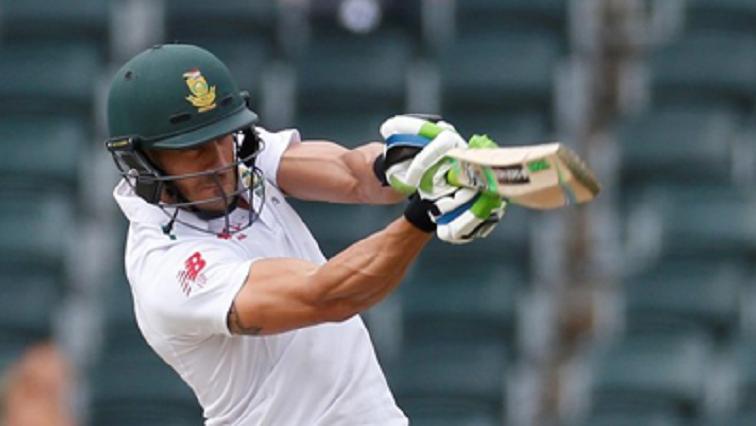 Faf du Plessis batting