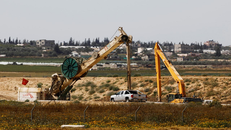 Construction along Gaza border