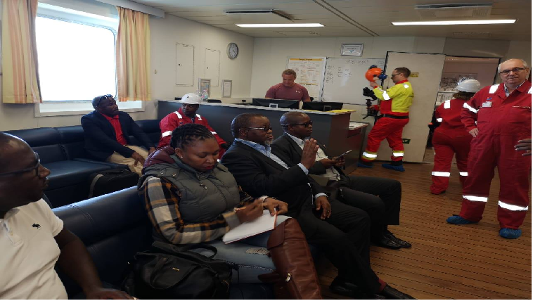Minister of Mineral Resources, Gwede Mantashe, visited the Total Oil Exploration Drill.