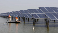 In land-scarce Southeast Asia, solar panels.