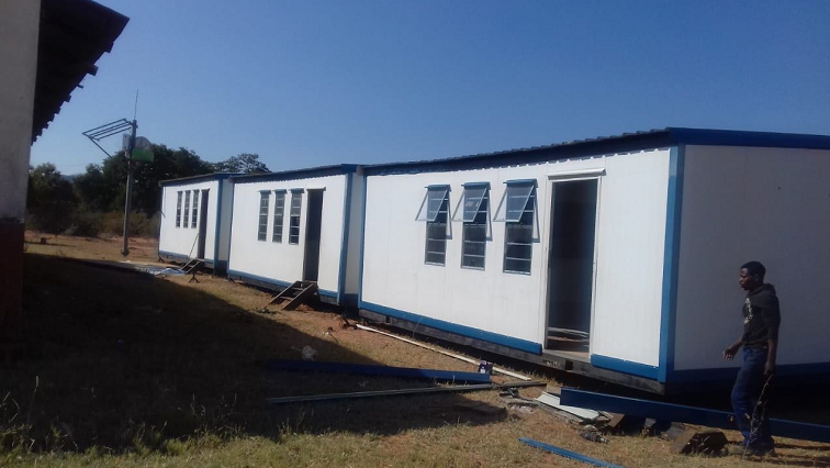 Makangwane High School container classrooms