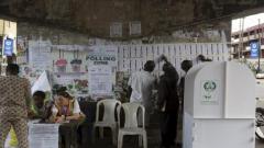 Nigeria polling station.