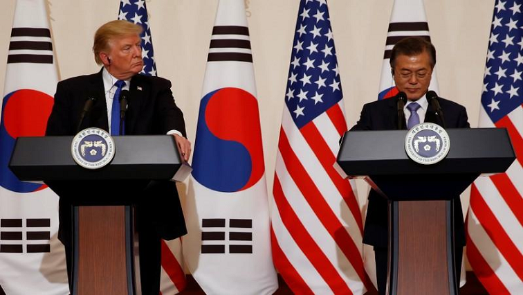 US President Donald Trump and South Korea's President Moon Jae-in