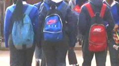 Pupils walking to class.