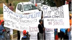 Soweto residents rejects Eskom's price hike.
