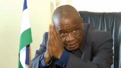 Lesotho Prime Minister Tom Thabane