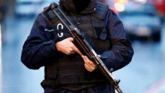 Police secure the area near an Istanbul nightclub, following a gun attack, in Turkey.