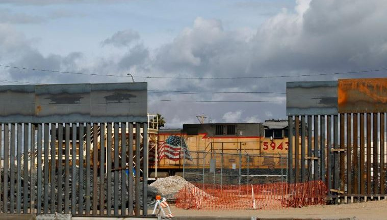 A view shows a new section of the border fence in El Paso, Texas, U.S., as seen from Ciudad Juarez, Mexico