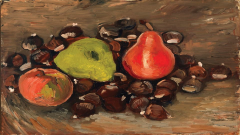 Still Life with Fruit and Chestnuts painting