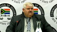 Former Bosasa employee Frans Vorster testifying