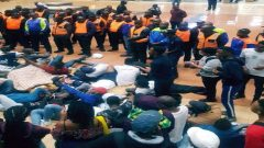 Protesting Wits students