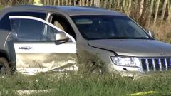 One of the cars in the crime scene