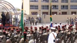 SABC News soldiers parade 300x169 - President Ramaphosa pays respects to SS Mendi soldiers