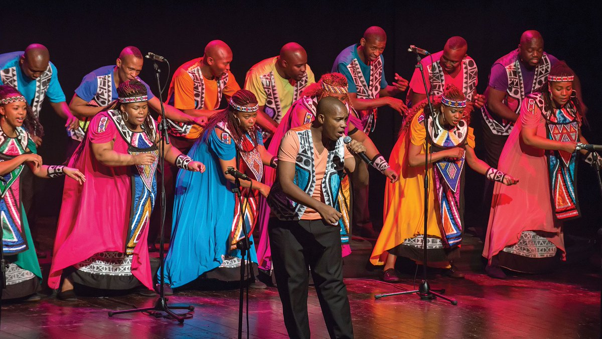 Soweto Gospel Choir singing on stage