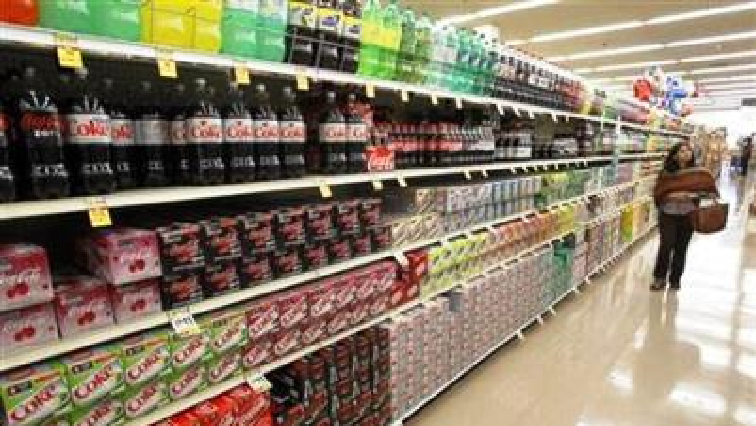 Cold drinks in an aisle
