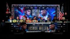 Poster of Anthony Joshua and Jarrell 'Big Baby' Miller.