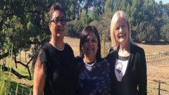 Denise Stubbs, Minister Beverley Schäfer and Joyene Isaacs