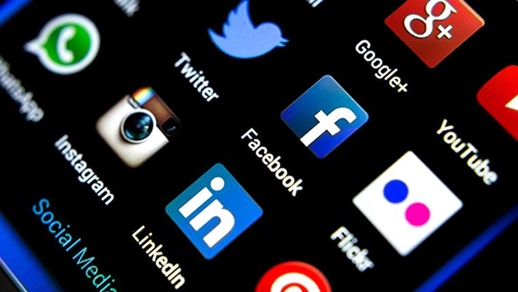 Social Media apps in a phone