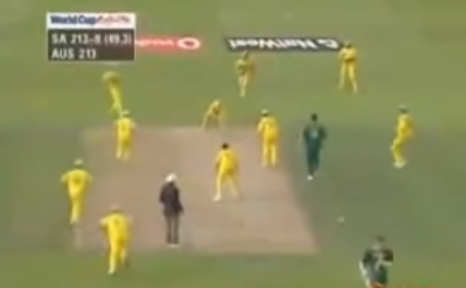 1999 SA vs Austrailai Run out - Proteas Cricket World Cup history and almosts