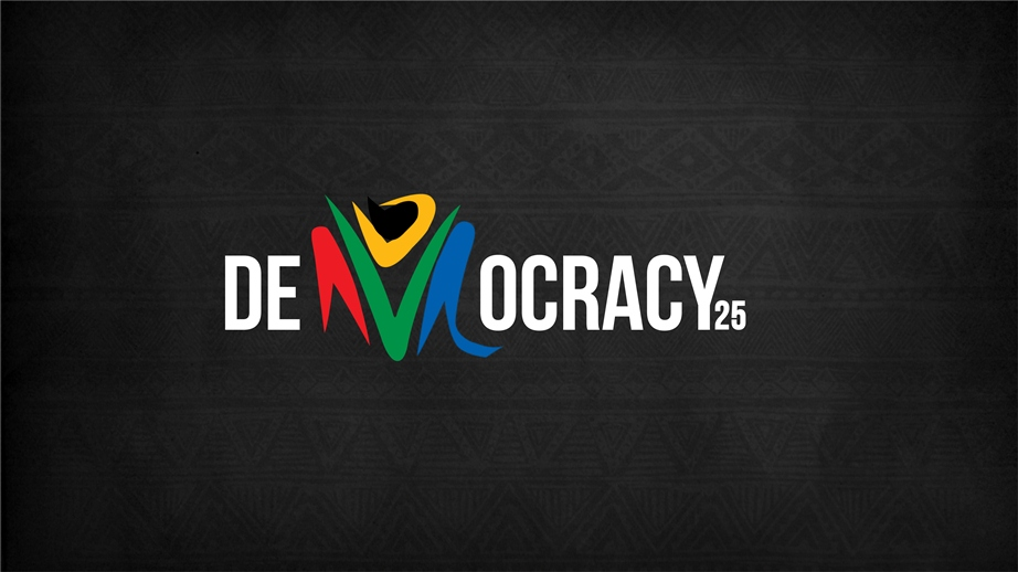 DEMOCRACY 25 black - Celebrating 25 years of Democracy