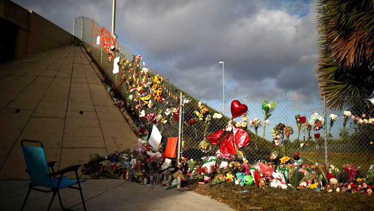 flowers to commemorate victims of the mass shooting