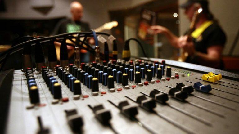 A music studio.