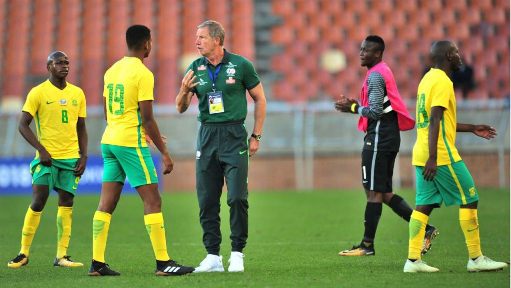 Bafana Bafana coach and players