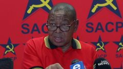 The South African Communist Party (SACP) leader Blade Nzimande.