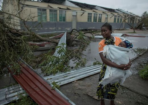 The aftermath of the Cyclone Idai is pictured in Beira, Mozambique.