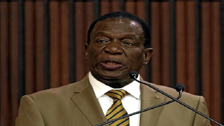 Zimbabwean president Emmerson Mnangagwa.