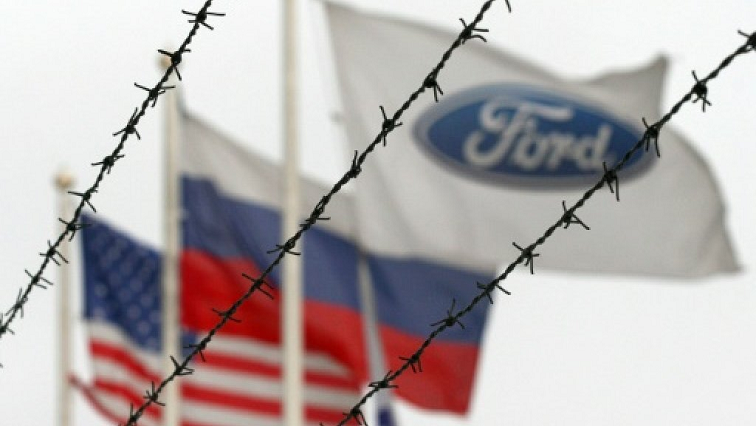 SABC News Ford AFFP - Ford to shut three factories, stop making passenger cars in Russia