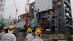 Workers at the Fukushima plant